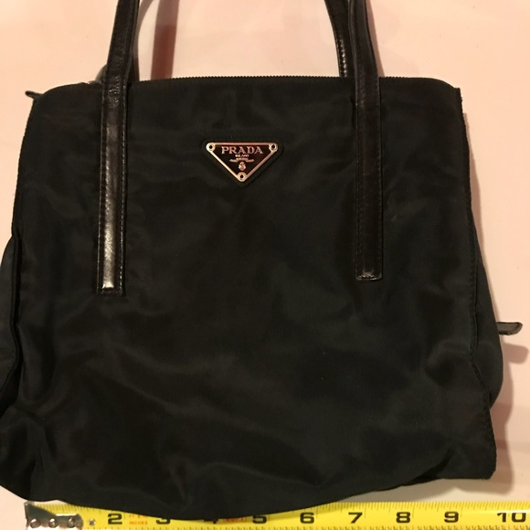 Prada nylon small black lunch tote style purse. M 5b3a76679fe48691b7a29af7 c478ac626edb6